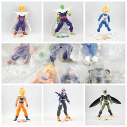 trunks action figures 2019 - Hot Amine Dragon Ball Z 12-16cm Freeza Piccolo Vegeta Trunks Son Gohan Kuririn 6pcs set PVC Action Figures discount trun