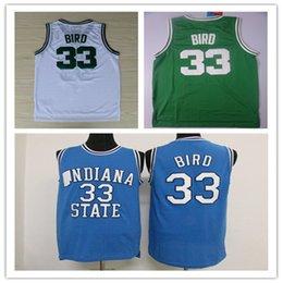 7acb11574 Mejor calidad Dwayne Mens College Camisetas de baloncesto baratas   33 Bird  Jersey Estado de Indiana Sycamores Stitched Basketball Jersey