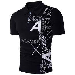$enCountryForm.capitalKeyWord Australia - Men Polo Shirt Casual Short Sleeve Men 'S Cotton Polo Shirt Letter Print Slim Fit Camisa Polo Summer Male Top Tees Undershirt Men
