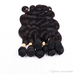 $enCountryForm.capitalKeyWord UK - Body Wave Hair 6 Bundles 100% Human Hair Weaves Brazilian Peruvian Hair Extensions Natural Black Color 1B 12-28 Inches 50GR ONE Piece