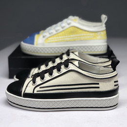 Spring Fall Canvas Shoes Canada - 2019 spring fall summer womens real leather cap toe with white canvas Fabric lace up Trainers Casual Shoe flat platform sneakers