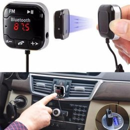 Wholesale Bluetooth A2DP Car FM Transmitter Hands free MP3 Music Player Dual USB Car Charger Kit Car Styling Parts