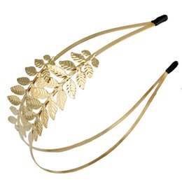 $enCountryForm.capitalKeyWord UK - Gold Silver Metal Leaf Baroque Wedding Crown Tiara Vintage Bridal Hair Piece Accessories Women Party Prom Hairband Headpiece