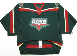 China Vintage HOUSTON AEROS Hockey Jersey Embroidery Stitched Customize any number and name Jerseys supplier jersey houston suppliers
