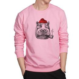 $enCountryForm.capitalKeyWord Australia - Cool Hippo Hoodies Super Fashion Animal Sweatshirt Hip Hop Harajuku Streetwear Breathable Cotton Clothes Cool Jacket Hoodie