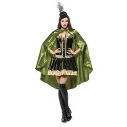 Wholesale women pirate cosplay costume online – ideas Halloween Cosplay Costume Green Forest Pirate Goddess Costume Cosplay Adult Cosplay Stage Costume for Women Club Party Clothes