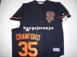 cheap shirts for sale NZ - Cheap baseball SG #35 BRANDON CRAWFORD shirt JERSEY Black New Mens stitched jerseys Big And Tall SIZE XS-6XL For sale
