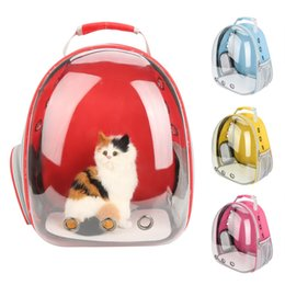 Space beautiful online shopping - Beautiful Breathable Portable Pet Carrier Bag Outdoor Travel puppy cat bag Transparent Space Pet Backpack Capsule D19011201