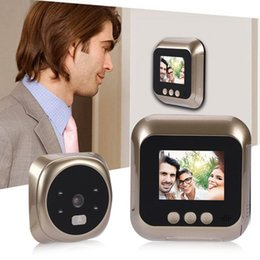 Camera Lcd Display Security NZ - 2.4 Inch HD Screen LCD Display Home Smart Doorbell Security Door Peephole Camera Electronic Cat Eye Support Photo video 2019-W5