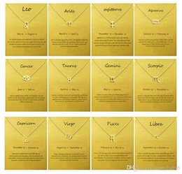 $enCountryForm.capitalKeyWord Australia - Chinese Zodiac 12 animals Charm Pendant Necklace with Card for kids Adults Gold silver color Jewelry