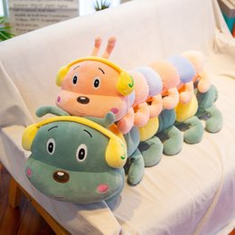 caterpillar soft toys Australia - Soft Cartoon Plush Doll Colorful Caterpillar Toys Baby Sleeping Pillow Gift Kids Large Plush Animals Toys