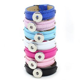 $enCountryForm.capitalKeyWord Australia - 18+8MM PU Leather Wristband Bracelets (10 pieces lot) DIY Accessory Fit Slide Letter  LSNB17*10