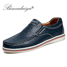 black boat dress shoes mens 2019 - BIMUDUIYU Hot Sell Mens British Style Boat Shoes Minimalist Design Leather Men Dress Shoes Loafers Formal Business Oxfor