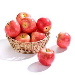$enCountryForm.capitalKeyWord UK - 1 Pc Artificial Apples Plastic Fruit Red Apple For Wedding Decoration EVA Plastic Shop Display Fake Fruits Teaching Aids Fruits