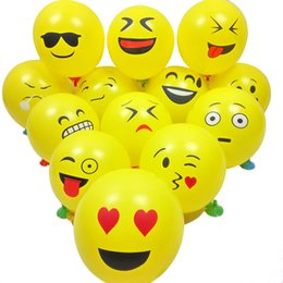 Wholesale 100pcs inch Emoji Expression Latex Balloons Cartoon Inflatable Balloons Wedding Decor Balloons Birthday Party Decoration cm