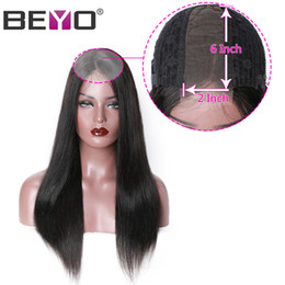 Remy fRont lace closuRe online shopping - Lace Front Human Hair Wigs x6 Lace Closure Wig Pre Plucked Straight Lace Front Wig With Baby Hair Peruvian Wig Remy Beyo Hair