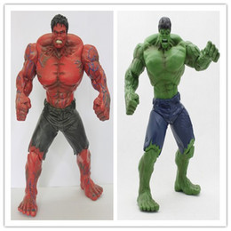 Red Hulk Figures Australia - [ TOP] 26cm The Avengers Movie Red Green Hulk Action Figures toy Movable joints PVC Model Dolls Movable Anime Figure kids gift