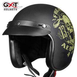 $enCountryForm.capitalKeyWord Australia - 2018 Spring Autumn New ECE GXT Retro Motorcycle Helmet A303 Carbon fiber Motorbike Helmets Men women Half Face Moto Safety Helme