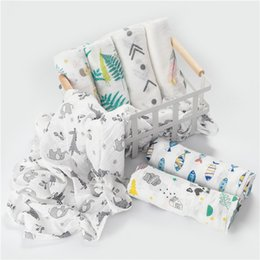 Wholesale Muslin Cotton Baby Swaddles Soft Newborn Blankets Bath Gauze Infant Wrap sleepsack Stroller cover Play Mat