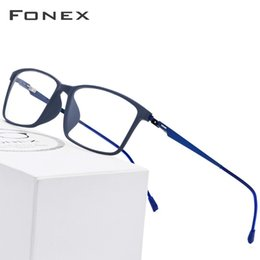 f7637947ed9d Tr90 Titanium Alloy Glasses Frame Men Myopia Eye Glass Prescription  Eyeglasses 2019 Korean Screwless Optical Frames Eyewear 9855 C19042001