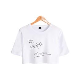 hot sexy girls t shirts 2019 - BTS RM Mono Kpop Printed Women Summer Crop Tops Fashion Short Sleeve Casual T-shirts 2018 Hot Sale Trendy Girls Sexy Wea