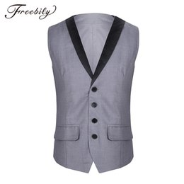 $enCountryForm.capitalKeyWord Australia - Men's Business Casual Slim Vests Fashion Men Solid Color Single-Breasted Vests Waistcoat Fit Male Suit For Men Spring Autumn