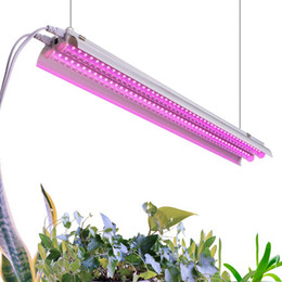 plug flower led lights 2020 - 500W 4FT Plant Growth Light - LED Integrated Lamp Fixture Plug and Play - Full Spectrum for Indoor Plants Flowers Growin