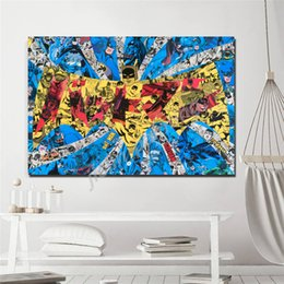 marvel art prints NZ - Marvel Movie Batman Canvas Painting Wall Art Modern Poster Print Decoration Bedroom Picture For Living Room Decor