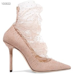 glitter tulle Australia - Famous ballet shoes pink suede pump with ballet shoes pink red and gold glitter tulle overlay womens shoes pointed toe heels