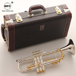 $enCountryForm.capitalKeyWord NZ - Vincent Shrotenbach Stradivarius Professional Bb Trumpets LT180S-72 Silver Plated Gold Key Trumpet Mouthpiece Accessories Case