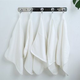 $enCountryForm.capitalKeyWord Australia - White Cotton Soft children's Towel Cloth Absorbent Baby Small Square Towel Home Can Be Hung Children