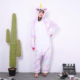 Onesie stars online shopping - Cute Flannel Stitch Onesie Sleepwear Comfort To Wear Animal Unicorn Star Design Pyjamas Winter Keep Warm Pajamas For Men Women yn BB