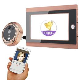 SY708G11 720P puerta de 7 pulgadas Mirilla timbre de la cámara kit 1 del intercomunicador de la cámara 1-Monitor - El oro del enchufe de EE.UU. en venta