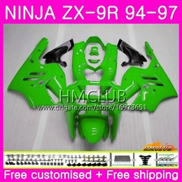 $enCountryForm.capitalKeyWord Australia - Bodys For KAWASAKI NINJA ZX 9R ZX900 ZX-9R 94 95 96 97 Kit 69HM.23 Glossy green ZX 9 R 94 97 900CC ZX9R 1994 1995 1996 1997 Full Fairing