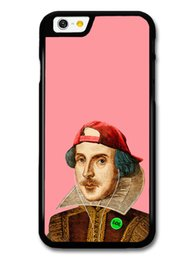 Cool Cases For Iphone 5s Australia - Cool Shakespeare Hipster Illustration on Pink Phone Case For Iphone 5s 6s 6plus 6splus 7 7plus 8 X Samsung Galaxy S6 S6ep S7 S7ep S8 S9