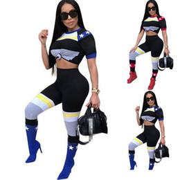 $enCountryForm.capitalKeyWord UK - Luxury Designer Jogger Sportswear Printing T Shirt Legging 2 Pieces One Set Tracksuit Personality Spring Womens Home Clothes