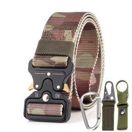$enCountryForm.capitalKeyWord Australia - 3.8cm Tactical Belt 3 Piece Sets Multifunctional Nylon Outdoor Training Belt POM Automatic Buckle Belt For Women Man Fans Tactical Equipment