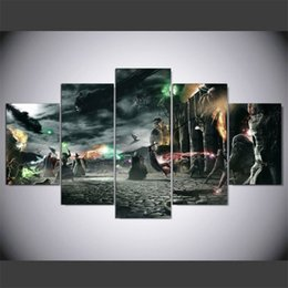China Harry Potter Fight,5 Pieces HD Canvas Printing New Home Decoration Art Painting  Unframed Framed suppliers