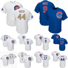 Wholesale 2019 New Jersey Kris Bryant Anthony Rizzo Baseball Jerseys Javier Baez Chicago White Blue Cubs Hot Stitched Best Jersey