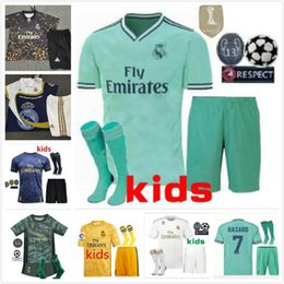 Soccer goalkeeper online shopping - Hazard Camisas De Futebol kids Real Madrid equipacion soccer Jerseys Eden Goalkeeper equipment realmadrid football kits