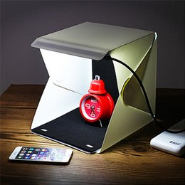 Mini caja de luz plegable portátil del estudio Softbox plegable portátil de Studio de la fotografía con Backgound suave blanco / negro del backgound