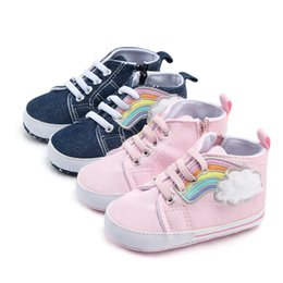 Walkers For Toddlers Australia - Baby Boys Girls Shoes Canvas Shoes First Walk High Quality Two Strap Newborn Baby Toddler Fashion First Walkers For 0-18 Month