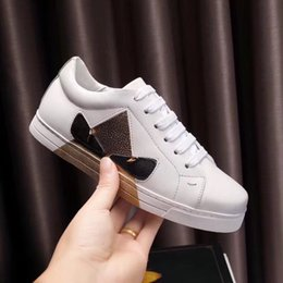 Court Cases Australia - White leather low-top casual shoes women's men's fashion brand casual shoes white leather belt case size 35-44