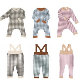 63f471dea142 2019 Spring Baby Rompers Boys Girls Cotton Plaid Jumpsuits Newborn Baby  Clothes Hat Overalls New Children Clothing Roupas Bebes