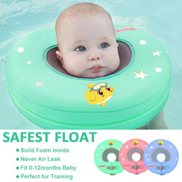 swimming neck float ring 2019 - Baby infant Swimming neck Float No Inflatable Swimming Pool ring Safety Swim Training Aid for Bathtub Pools Swim Trainer