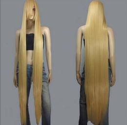 Ingrosso SPEDIZIONE GRATUITA + + 150 cm Parrucche Cosplay extra lunghe lunghe eleganti beige beige 150 cm Parrucche cosplay extra lunghe lunghe eleganti beige beige