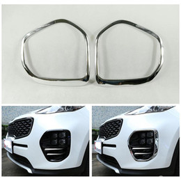 Reamocea 2pcs For Hyundai Tucson 2015 2016 2017 Abs Chrome Front Fog Light Lamp Cover Trim Foglight Lamp Shade Frame Bezel Exterior Parts