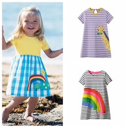 Summer Suit for baby girl online shopping - 16 styles Baby Clothes Summer Girl Dress Child Party Dresses Unicorn Animal Princess Dress For Girls Children Dress Suit Y