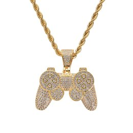 $enCountryForm.capitalKeyWord Australia - Hip Hop Game Machine Controller Handle Pendant Necklace for Women Men Full Iced Out Gold CZ Crystal Rhinestone Jewelry Necklaces