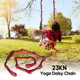 Wholesale 110CM KN Yoga Dasiy Chain Nylon Climbing Loop Strong Yoga Hammock Tree Swing Strap Safety Climbing Sling Hanging Belt